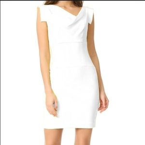 Black Halo Jackie Sheath Dress GUC white 8
